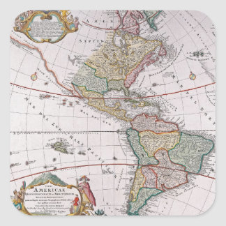 Old map square sticker