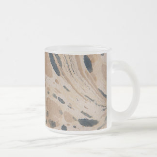 Old marbled paper texture frosted glass coffee mug