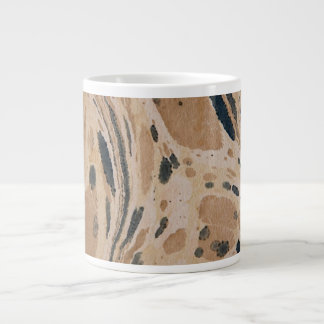 Old marbled paper texture large coffee mug