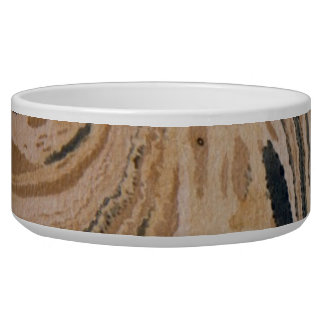 Old marbled paper texture pet food bowl