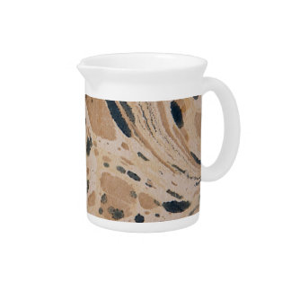 Old marbled paper texture beverage pitcher