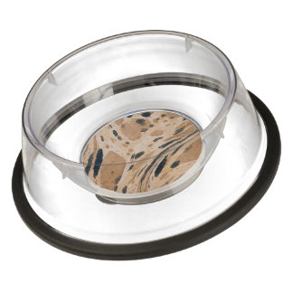 Old marbled paper texture pet bowl