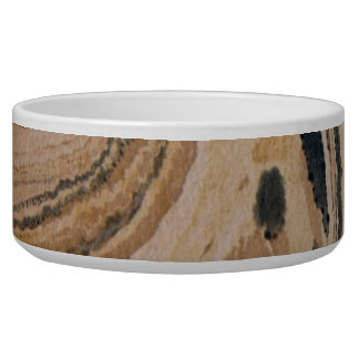 Old marbled texture pet water bowl