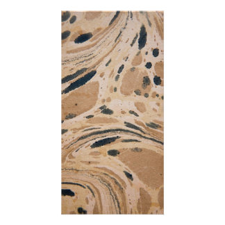 Old marbled texture picture card
