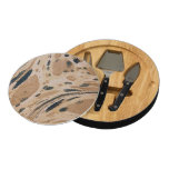 Old marbled texture round cheese board