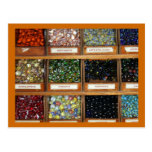 old marbles in boxes post card