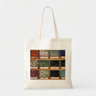 old marbles in boxes tote bag