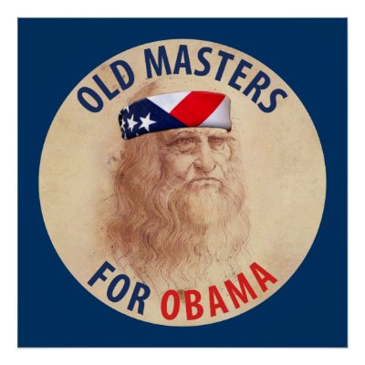 Old Masters for Obama Poster