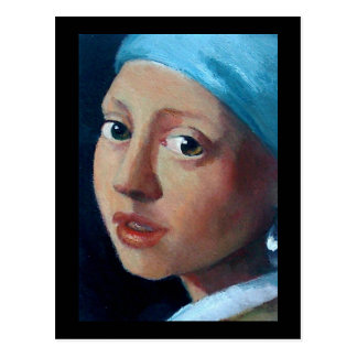 OLD MASTERS PEARL EARRING POSTCARD
