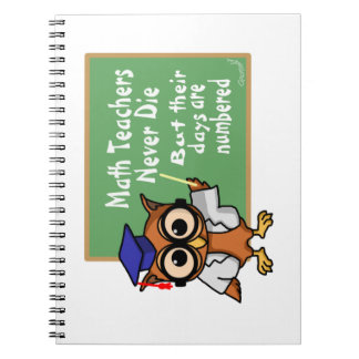 Old Math Teachers Epitaph Spiral Notebook