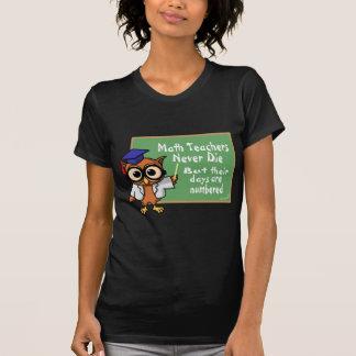 Old Math Teachers Epitaph T-shirt