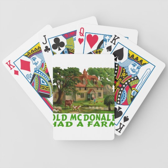 OLD MCDONALD HAD A FARM T-SHIRTS & GIFTS BICYCLE PLAYING CARDS