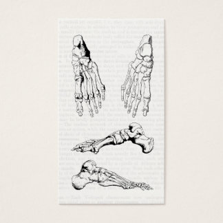 Old Medical Art Human Anatomy Bones of the Foot Business Card