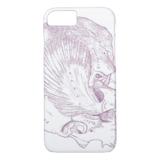 Old Medical Drawing Human Temporal Muscle iPhone 8/7 Case