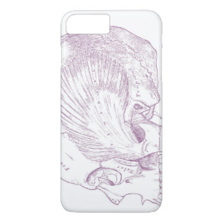 Old Medical Drawing Human Temporal Muscle iPhone 8 Plus/7 Plus Case