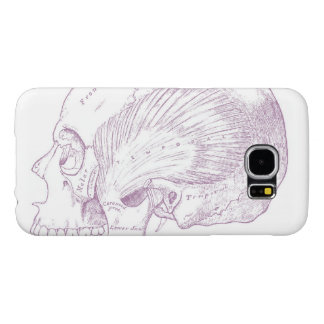 Old Medical Drawing Human Temporal Muscle Samsung Galaxy S6 Case