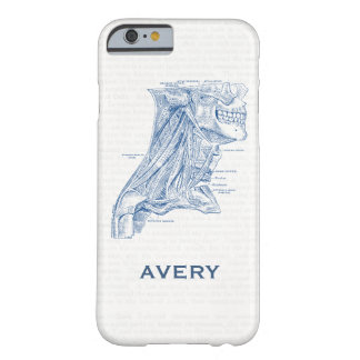 Old Medical Drawing Muscles of the Neck Blue Barely There iPhone 6 Case