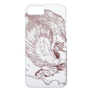 Old Medical Drawing Temporal Muscle iPhone 8/7 Case
