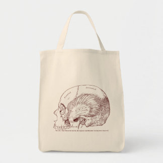 Old Medical Drawing Temporal Muscle Tote Bag