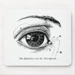 Old Medical Drawing The Human Eye Mouse Pad