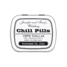 Old Medicine Labels Wedding Favors Chill Pill Tin Candy Tins at Zazzle