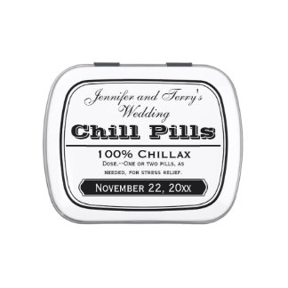 Old Medicine Labels Wedding Favors Chill Pill Tin Candy Tins