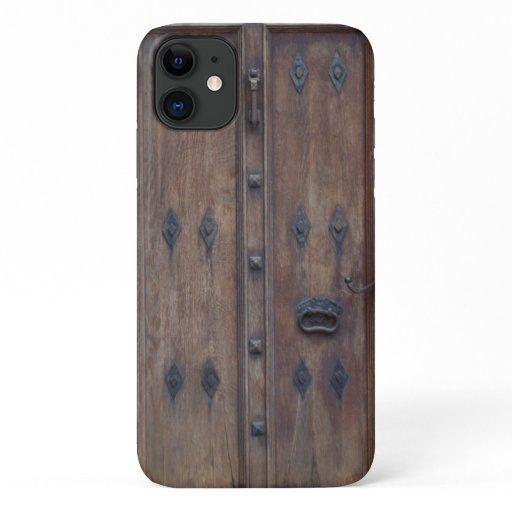 Old Medieval Spanish Wooden Door iPhone 11 Case