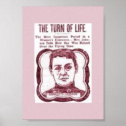 Old Menopause Advertisement Vintage Image Poster