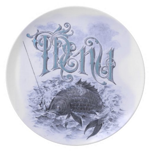 Old Menu Serving Dish Plates
