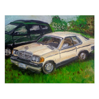 Old Mercedes painting Postcard