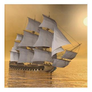 Old merchant ship - 3D Render Acrylic Wall Art