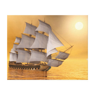 Old merchant ship - 3D Render Canvas Print