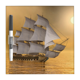 Old merchant ship - 3D Render Dry-Erase Board