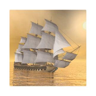 Old merchant ship - 3D Render Metal Print