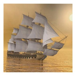 Old merchant ship - 3D Render Panel Wall Art