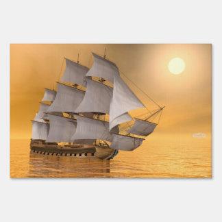 Old merchant ship - 3D Render Yard Sign