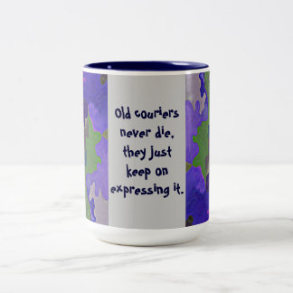 old messengers humor Two-Tone coffee mug
