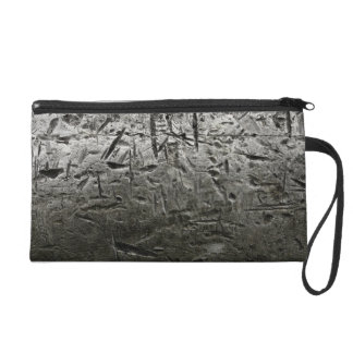 old Metal Surface with Big Scratches Wristlet Purse