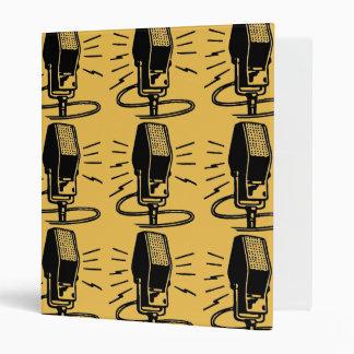 Old microphone 3 ring binder