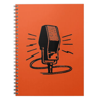 Old microphone notebook
