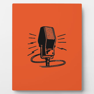 Old microphone photo plaque