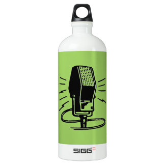 Old microphone water bottle