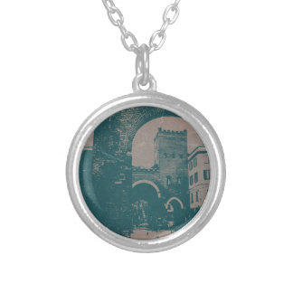 Old Milan Round Pendant Necklace