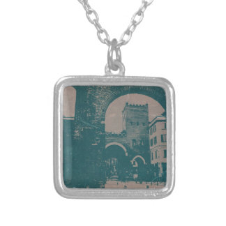 Old Milan Square Pendant Necklace