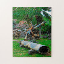 Old Military Artillery. Saipan Mariana Islands. Jigsaw Puzzle