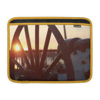 Old Military Cannon Wheel Sunset Photo Sleeves For MacBook Air