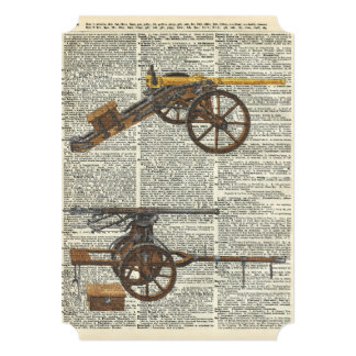 Old military cannons card