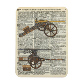 Old military cannons rectangular photo magnet
