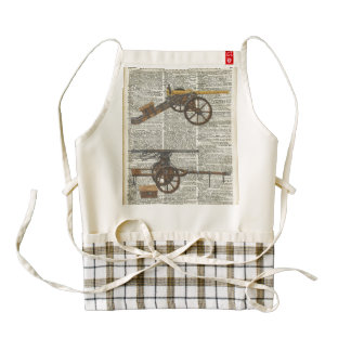 Old military cannons zazzle HEART apron