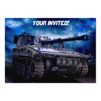 Old military tank personalized announcements